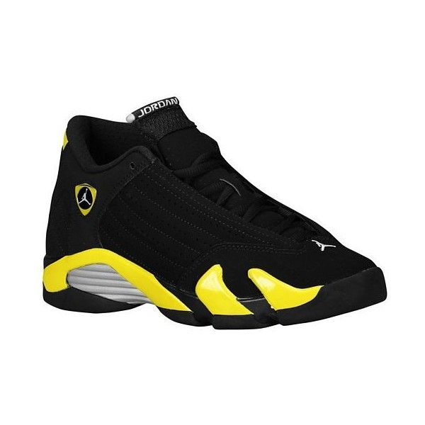 Jordan Retro 14 Boys' Grade School ($120) ❤ liked on Polyvore featuring shoes, jordans and sneakers