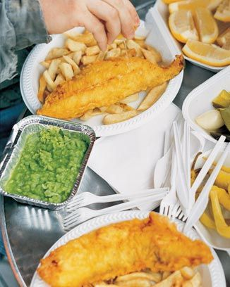 Jamie Oliver's battered fish and chips