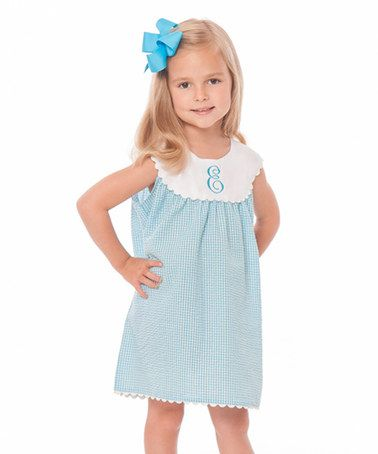 designer mens Initial this Dress on Gingham  amp  Girls Toddler wholesale Turquoise  zulilyfinds Loving  zulily  Yoke Infant  clothes