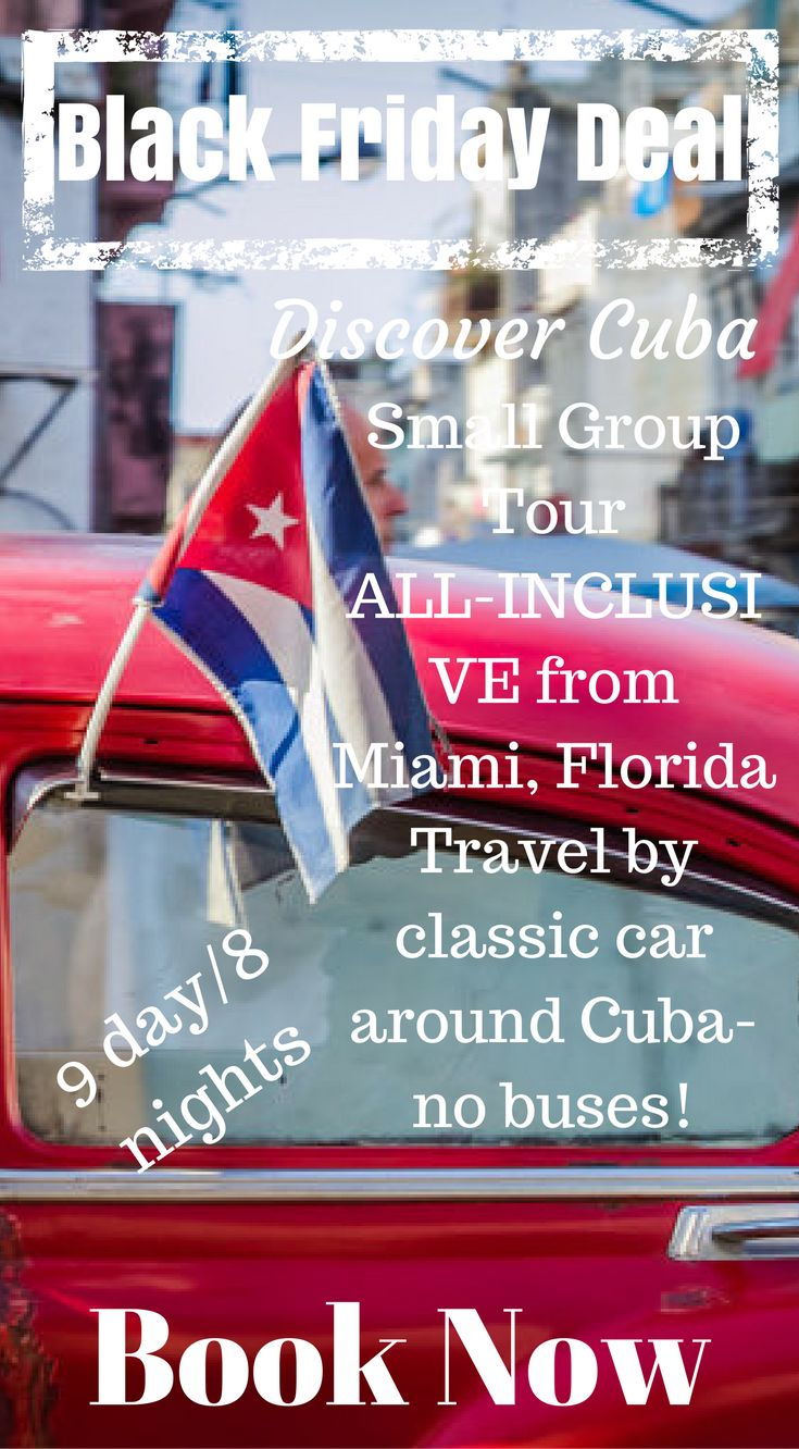 BLACK FRIDAY CUBA VACATION SPECIAL In case you've been on the fence about joining us in CUBA this coming February we still have a couple spaces left and we've decided to offer you a special Black Friday deal! Enter the code BLACK FRIDAY at checkout http://www.divergenttravelers.com/travel-photography-tours/cuba-photo-tour/