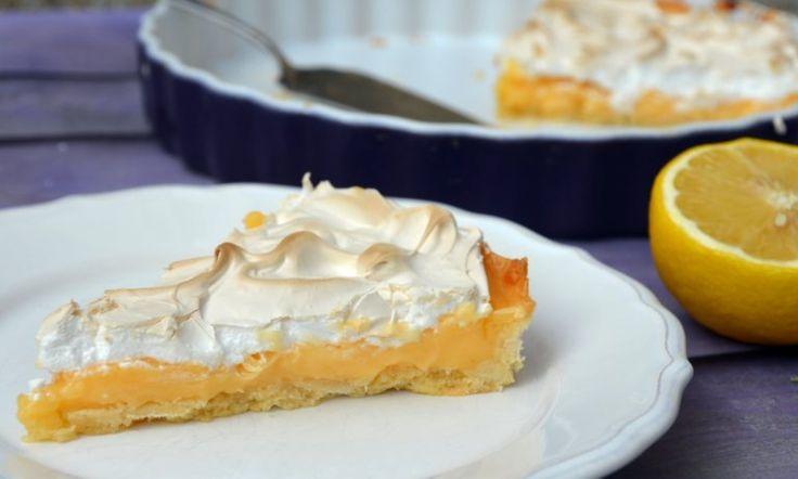 Citrom tart, citrompite tojáshabbal  Lemon pie, tarte au citron meringée