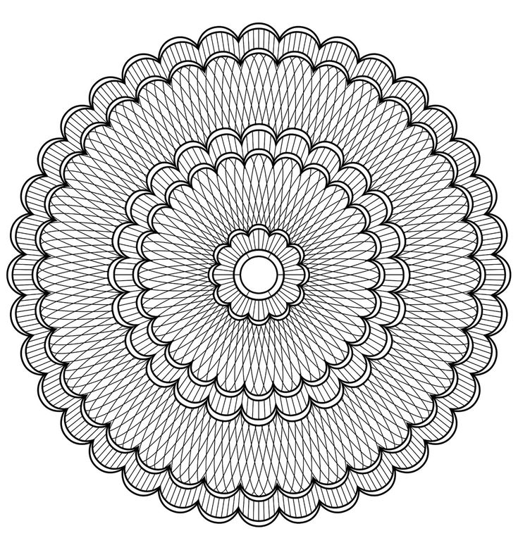 Free Mandalas Page Mandala To Color Patterns Geometric 4