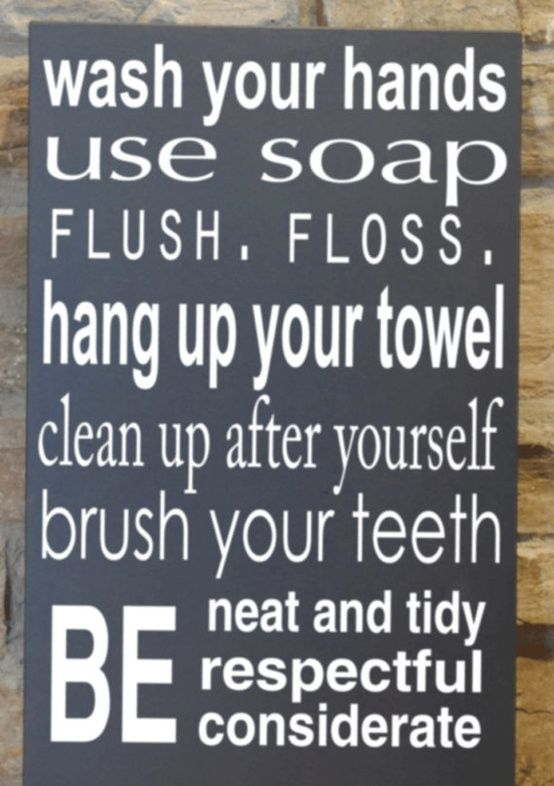 25+ best ideas about Bathroom Rules on Pinterest ...