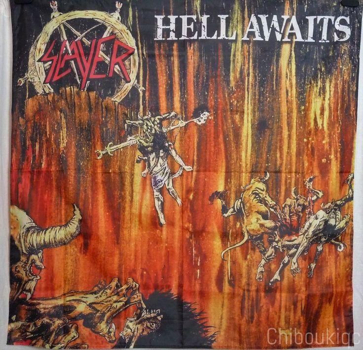 SLAYER Hell Awaits HUGE 4X4 BANNER poster tapestry cd album cover art | eBay