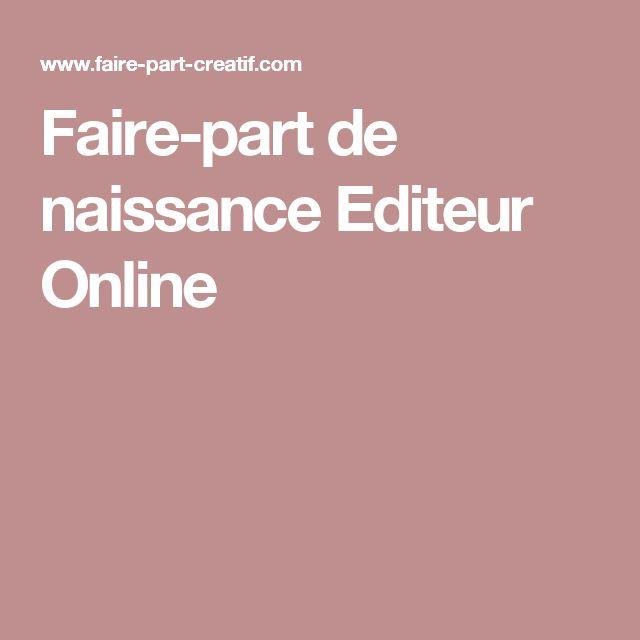 Faire-part de naissance Editeur Online