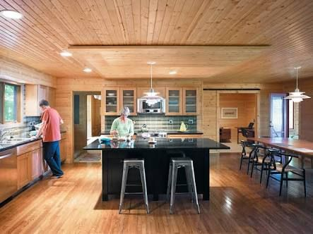 Image result for kitchen with wooden ceiling
