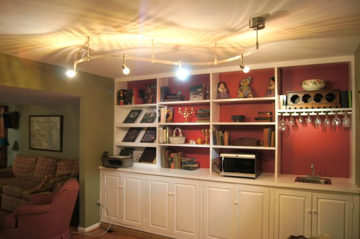Built In Bookcase Wet Bar In Family Room D Co