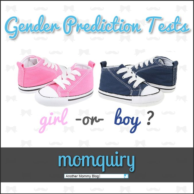 Check out the gender prediction tests I took while I was pregnant!