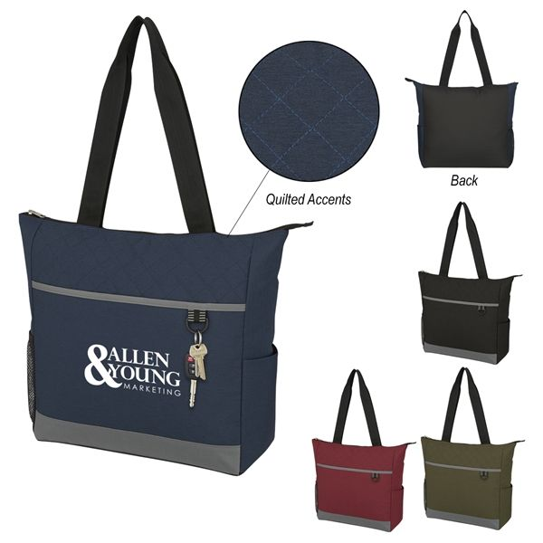 8c5e107d2 Custom Quilted Tote Bags personalized with a custom imprint or logo. #custom  #bag #tote #personalized #imprinted #embroidery #screenprinting #business  ...
