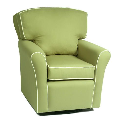 Comfy Cozy Green Glider For Rocking Baby To Sleep