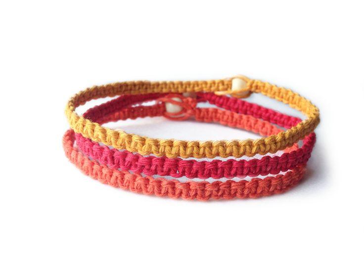 SUNSET: Yellow, Red and Orange Hemp Cord