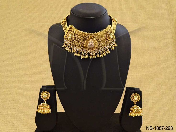 BROAD STYLE PAAN CENTER ANTIQUE NECKLACE SET