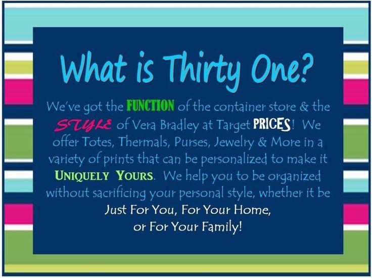 What is Thirty-One www.mythirtyone.ca/jenniferschnarr