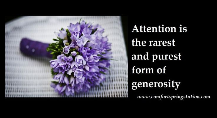 generosity put down yr phone