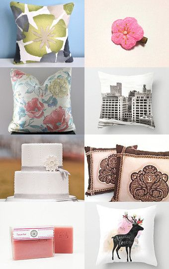 Pillow Madness and Friends by Chizuko Takahashi on Etsy--Pinned with TreasuryPin.com