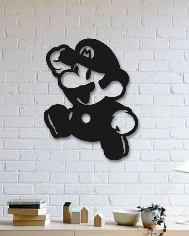 Super Mario Metal Plaka - Super Mario