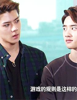 how to confuse oh sehun  lol he looks like an offended labrador. :P