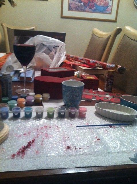 Crafting and wine. TSM.