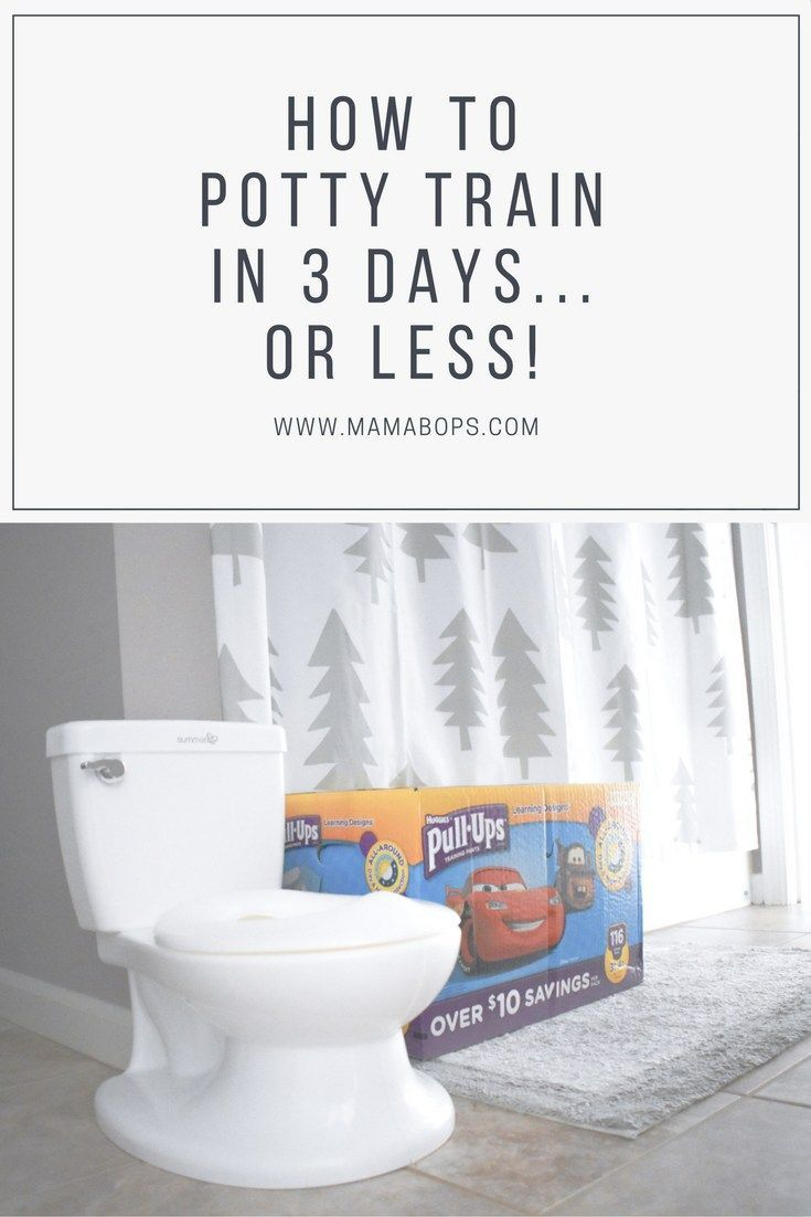 How to Potty Train in 3 Days... or Less! Here's how I potty trained my 2-year-old boy in 3 days! Early potty training and easy potty training are easier than you think! #PottyPartners #ad