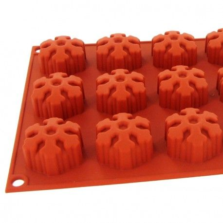 Moule silicone 18 mini muffins flocons