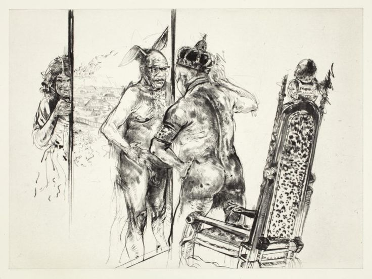 """""""The emperor's new residence"""" (2014) Drypoint"""