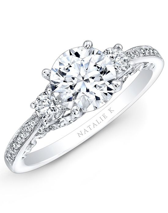 Trois Diamants Collection - NK29181-18W by Natalie K  This is like two of my favorite rings put together!!