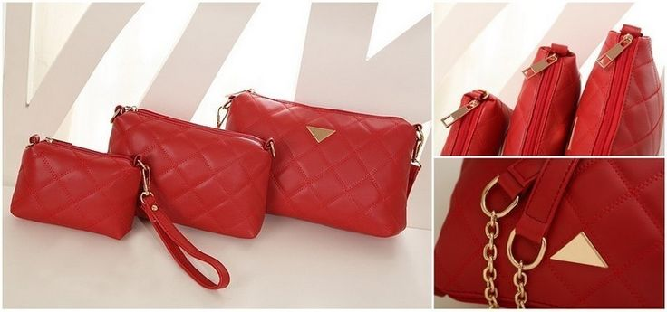 PCA1603 (3in1) Colour Red Material PU Size L 24 W 6 H 16 Price Rp 160,000