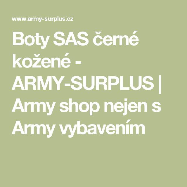 Boty SAS černé kožené  - ARMY-SURPLUS | Army shop nejen s Army vybavením