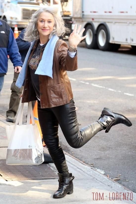 "Helen Mirren on the Set of ""Collateral Beauty"" 