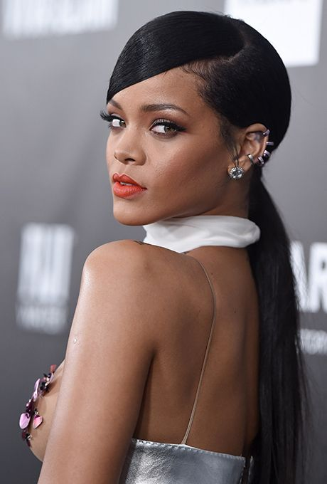 Celebrity Ponytail Hairstyles for Weddings Bridal hair inspiration Rihanna Ponytail hairstyles