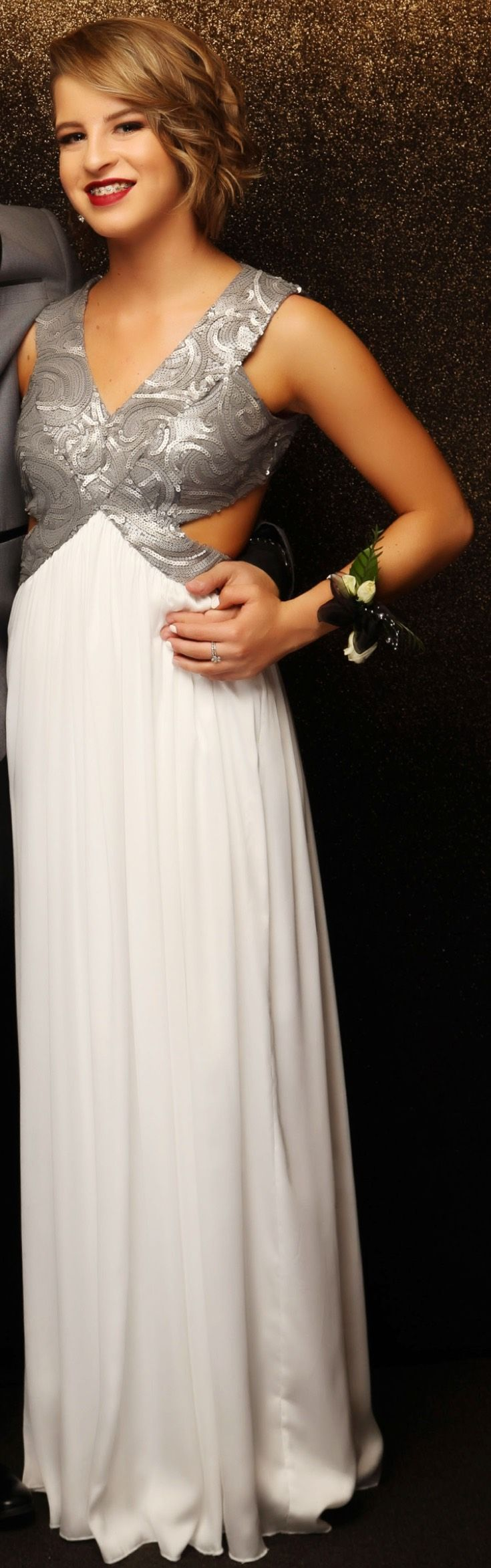 Rosehill Ball 2015. Love the white and silver! www.whitedoor.co.nz