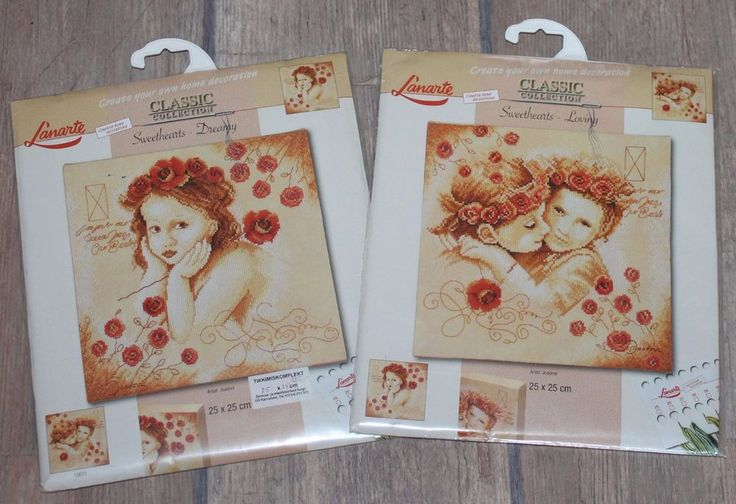 Counted Cross Stitch Kits #15611 and 15612 NIP RARE. Sweethearts - Dreamy and Loving - Lanarte. These kits are RARE and difficult to find. Kits are new and unopened. chart and instructions. Artist: Joadoor. | eBay!