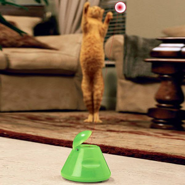 Multipet Ba-Da-Beam Rotating Laser Cat Toy - Drive Your Cat Nuts! - The Green Head