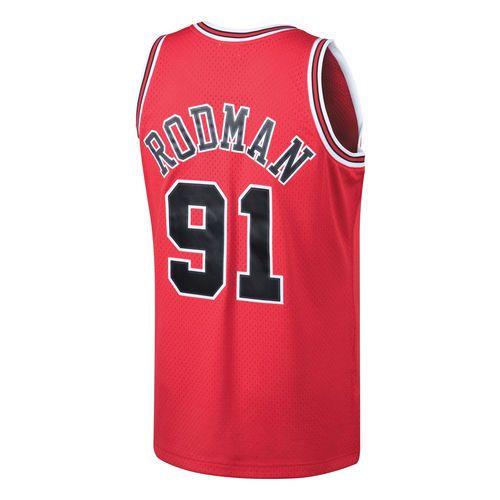 Men's Chicago Bulls Dennis Rodman Mitchell & Ness Red 1997-98 Hardwood Classics Swingman Jersey