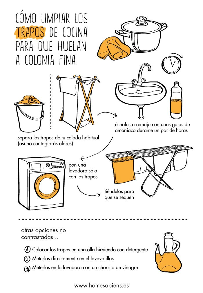 No hay nada peor que tener que limpiar los trapos de la cocina. Os ayudamos con estos consejos ilustrados: http://homesapiens.es/2013/05/unos-consejos-para-limpiar-los-trapos-de-cocina/