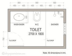 small bathroom dimensions - Google Search