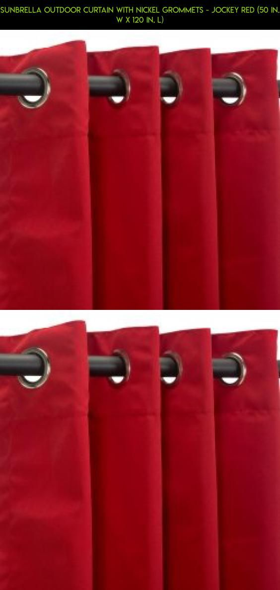 Sunbrella Outdoor Curtain with Nickel Grommets - Jockey Red (50 in. W x 120 in. L) #camera #gadgets #kit #outdoor #technology #fpv #shopping #products #plans #tech #drone #decor #parts #jockey #racing