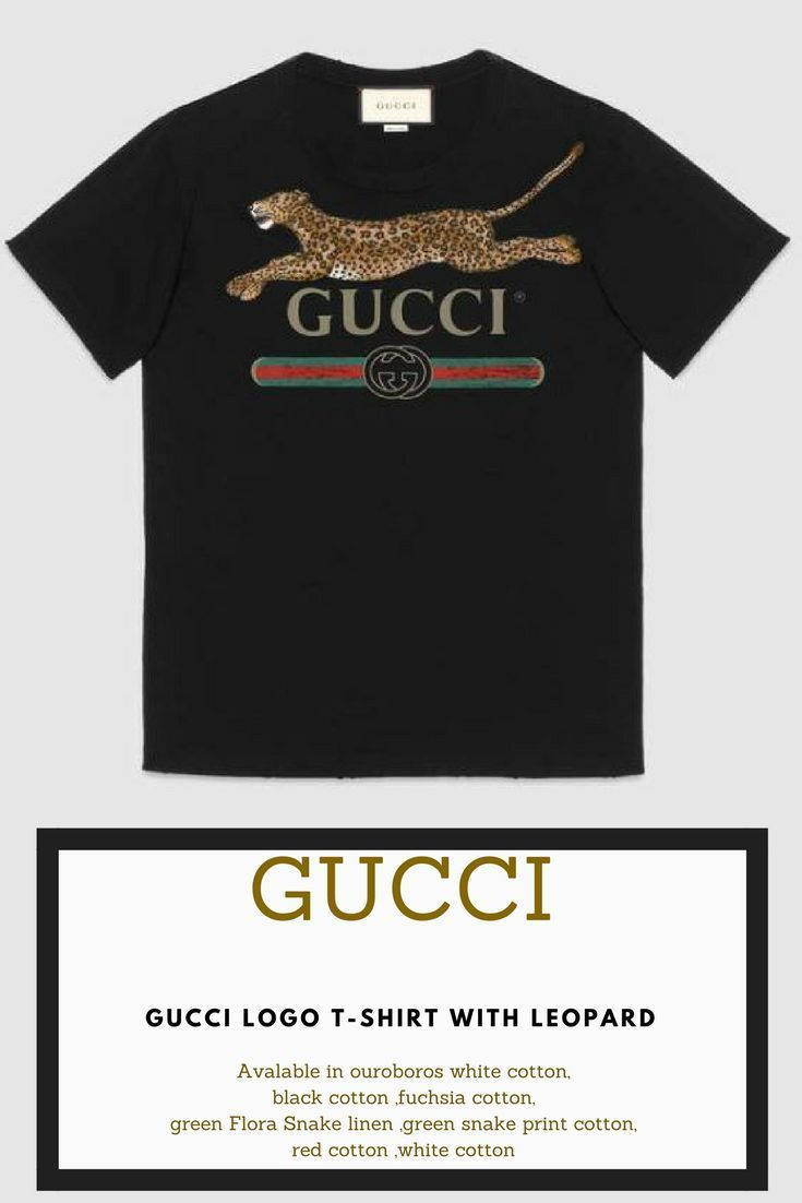 c3799d784aa Lovely Gucci logo T-shirt with leopard Available on ouroboros white cotton