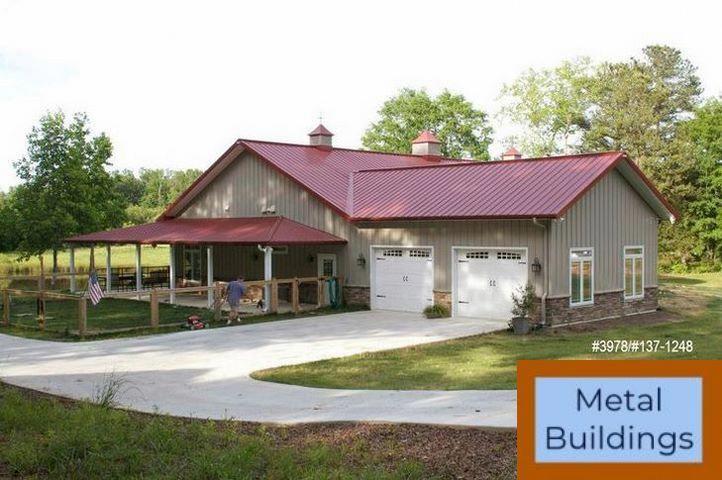 20 X 26 X 9 Garage Metal Buildings And Metal Buildings Windows Barn House Plans Metal Building Homes Morton Building Homes