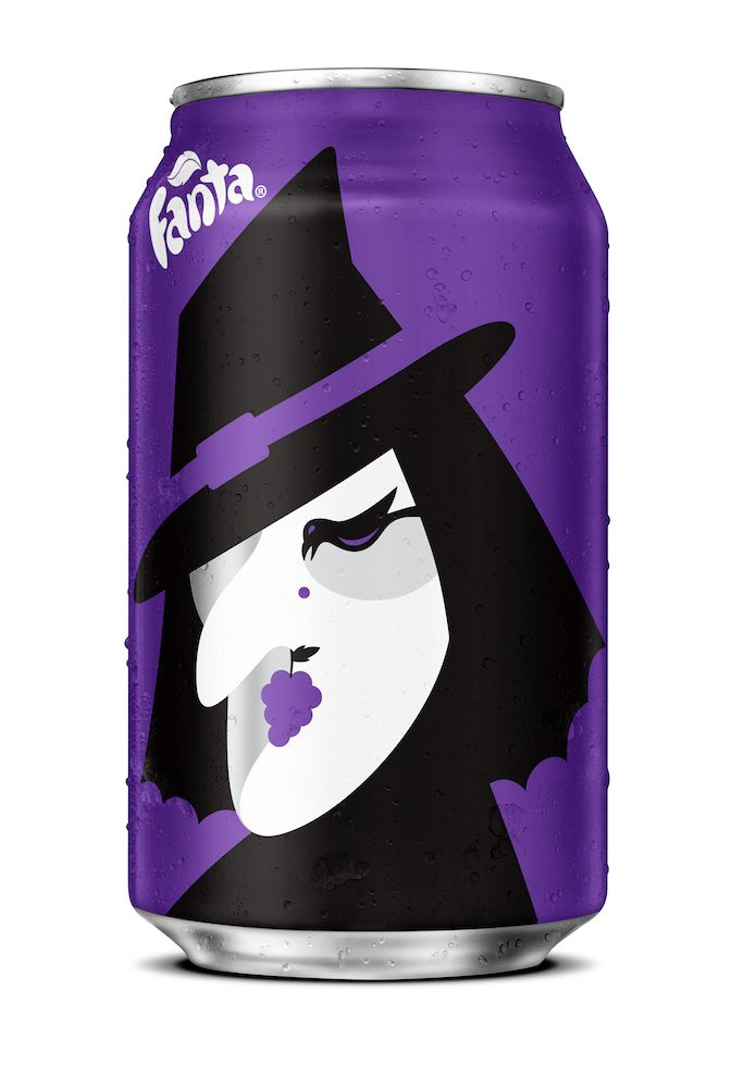 Fanta Halloween Can - Special edition designed by NOMA BAR /// - #Witch #Grape