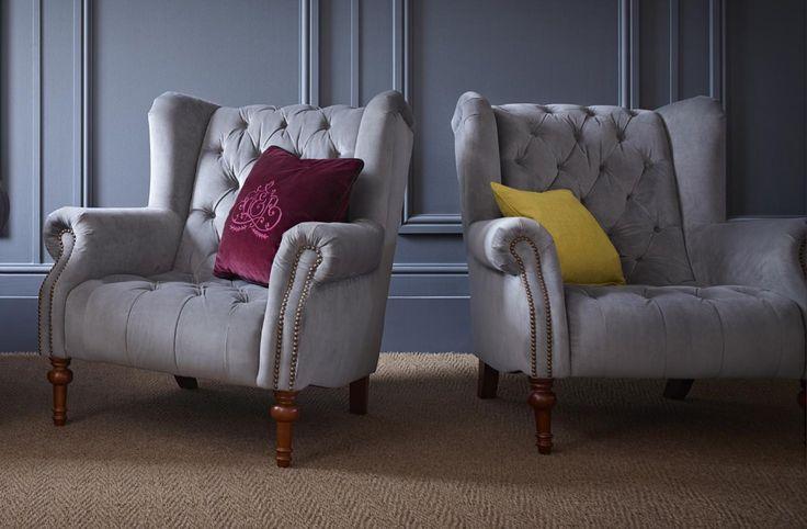 Turner Chair from £559 #meyerandmarsh #turnerchair #wingchair #livingroomideas