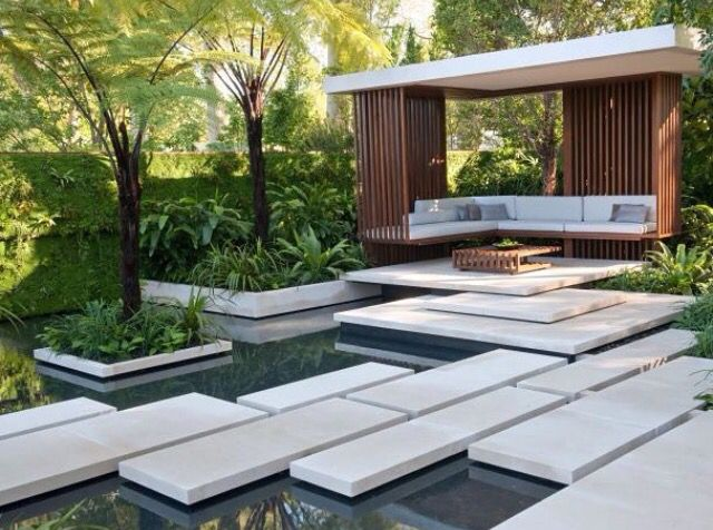5176 best modern landscape images on pinterest for Modern garden design
