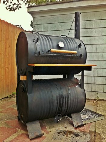double barrel smoker plans | Dual UDS Design needed