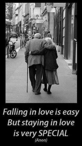Falling in love is easy - Picture Quotes and sayings www.boomerscupid.com