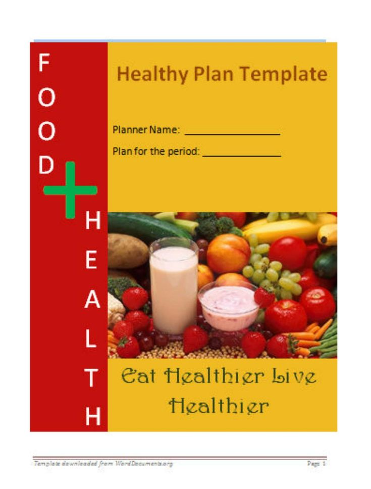 8 best plan templates images on Pinterest Frugal tips, Healthy - health plan template