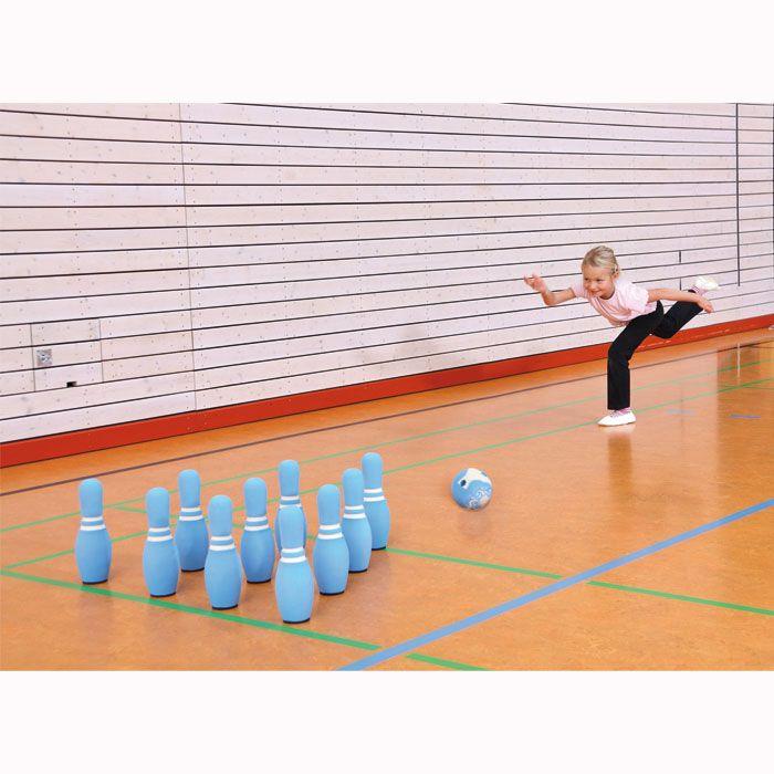 Bowling - Kegel und Bälle aus weichem Soft-Schaumstoff.