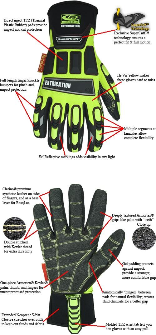 TheFireStore - Ringers: Hybrid Extrication Glove - Size Medium