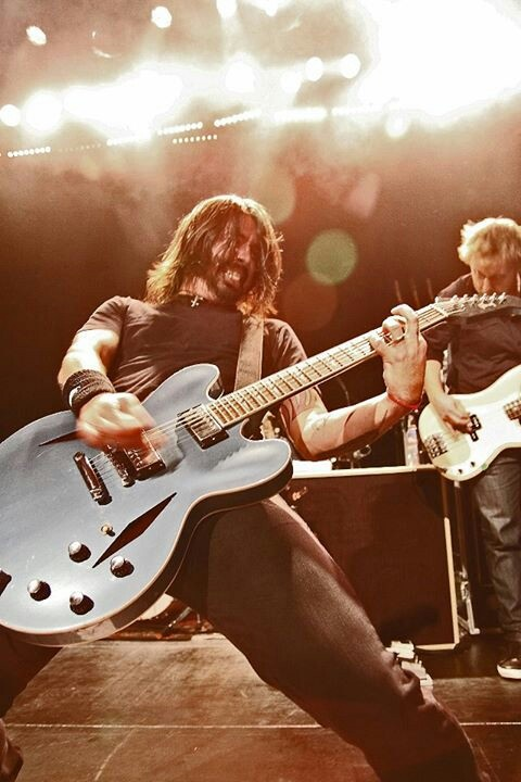 David Grohl rocking out with The Foo Fighters