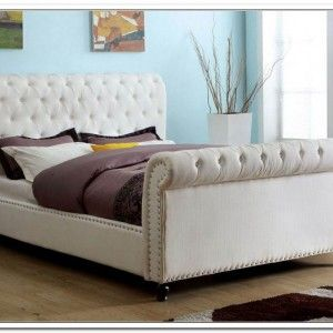 White Cloth Bed Frame Bed Design In 2018 Pinterest