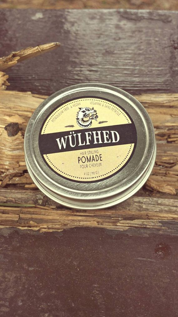 Wulfhed Vegan Hair Styling Pomade https://www.etsy.com/listing/226101373/sample-size-hair-pomade-medium-hold
